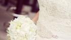 Elegant white bridal bouquet