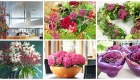 Pretty in pink home and office styling flower arrangements