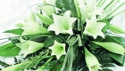 White lilies funeral spray by Kate Mell Flowers