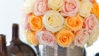 Arrangement of compact cluster of roses