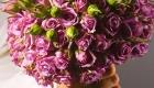 Lilac rose wedding bouquet