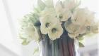 White fresh flower arrangement Kate Mell Flowers Boston Spa