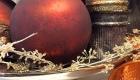 Accessorise arrangements with copper chrismas decorations