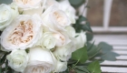 Blush O'Hara roses bridal bouquet