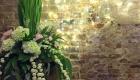 The Normans Barn wedding flower arrangement