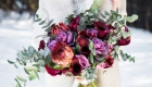 Burgundy & plum wedding flowers