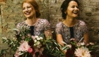 Kate Mell bridesmaids bouquets wedding flowers at The Normans