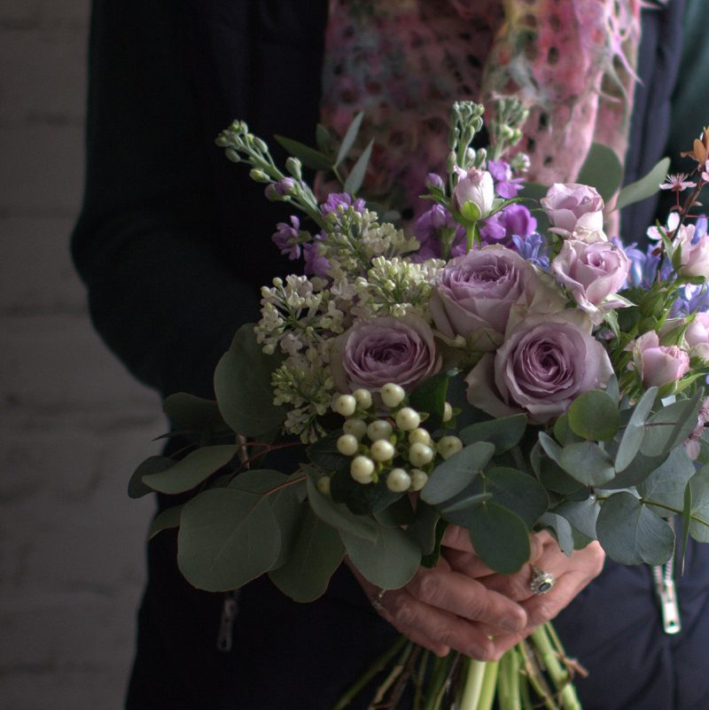Small tied bouquet (lilacs)