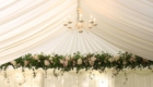 hanging floral wedding decoration
