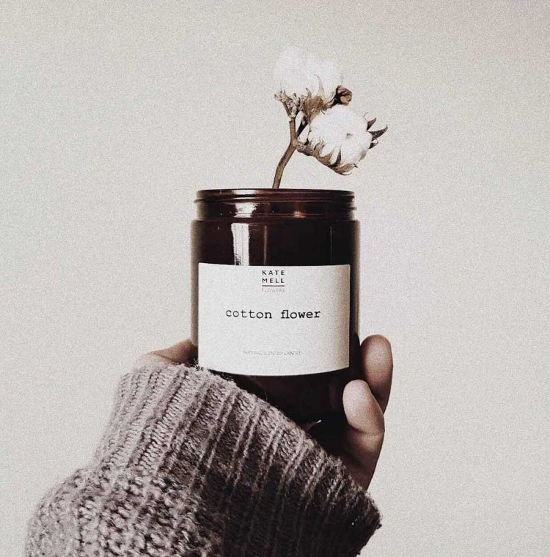 Beautifully fragranced Kate Mell Flowers natural soy wax candle