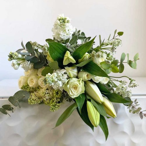 Alabaster & Olive Hand Tied Bouquet