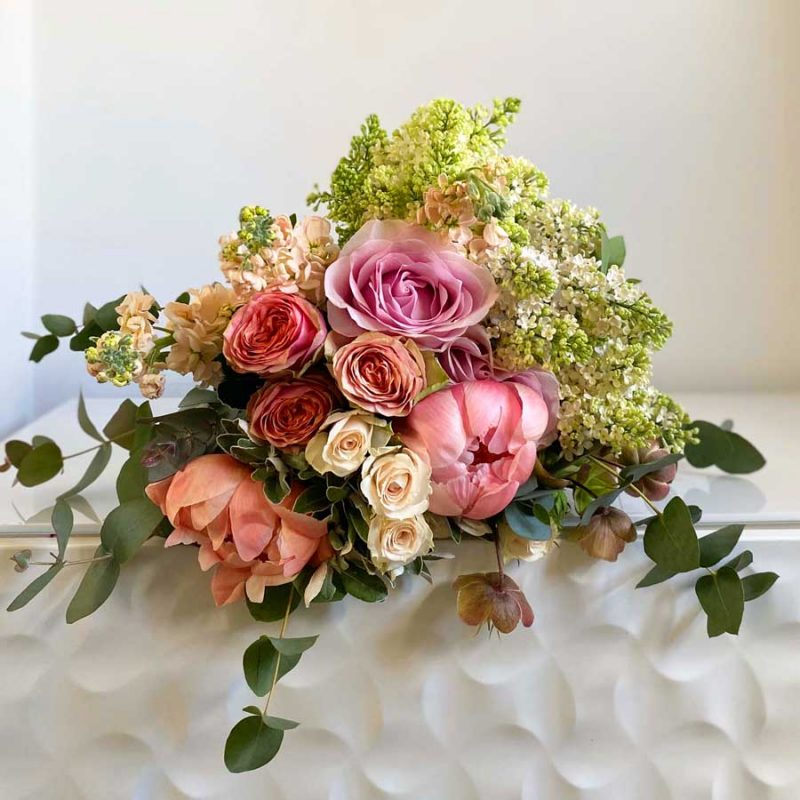 Rose & Apricot Hand Tied Bouquet