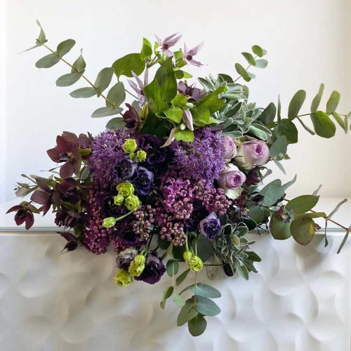 Violet & Lilac Hand Tied Bouquet