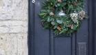 festive door wreath