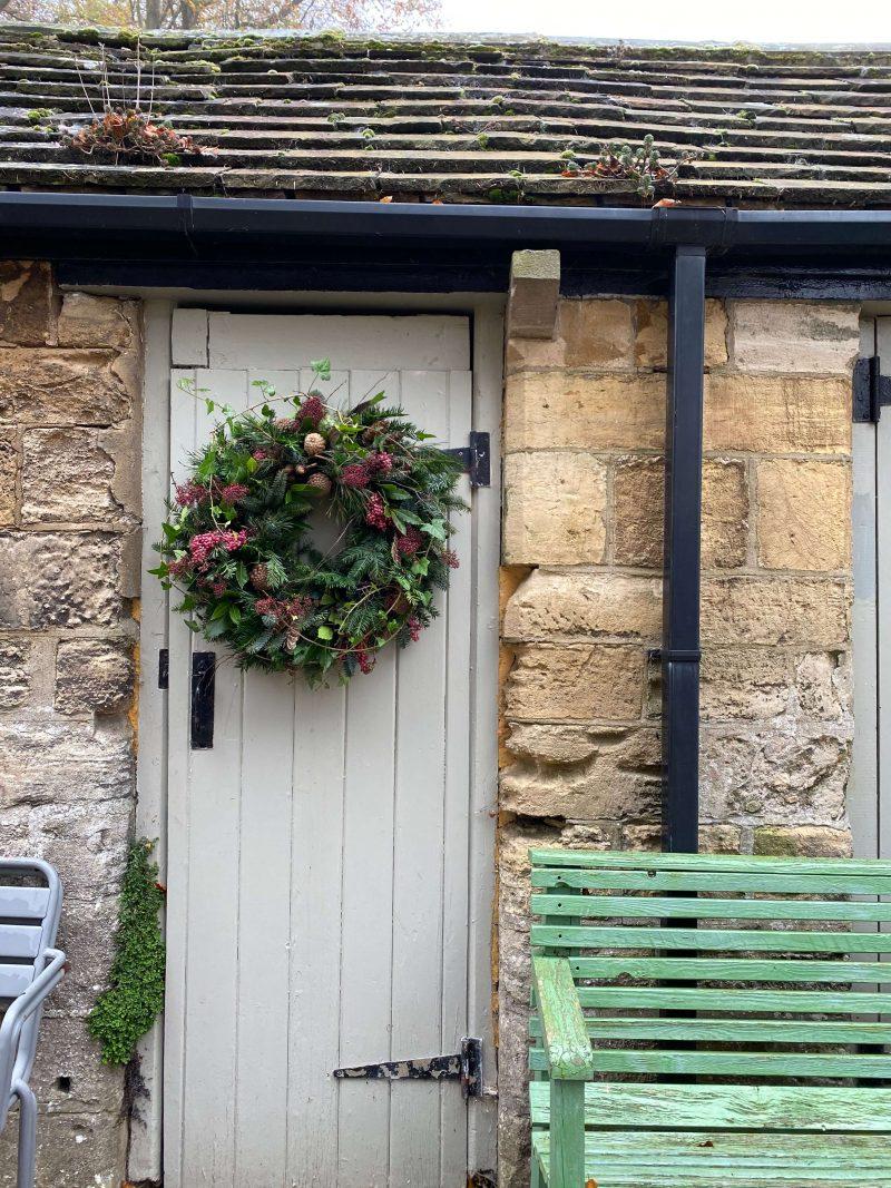 luxury door wreath