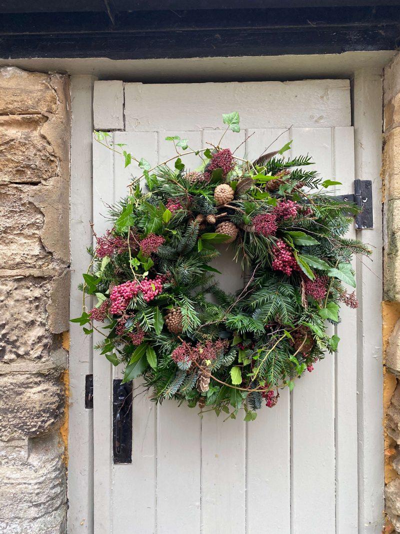 luxury natural door wreath