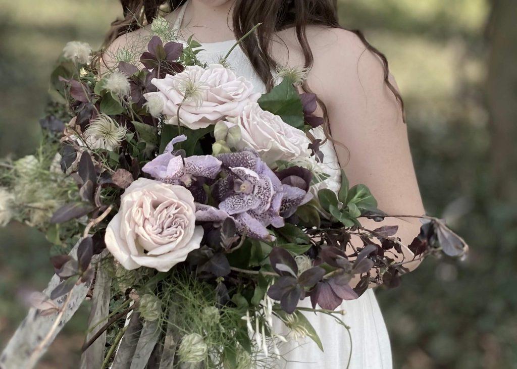 Mauve & Lilac Bridal Bouquet